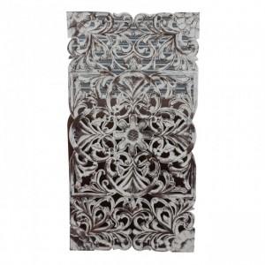 Dynasty Carved Panel Bedhead WhiteWash B