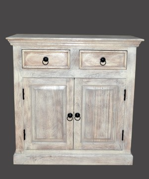 MADE TO ORDER Indian Mango Wooden Cabinet White 90x45x90 cm