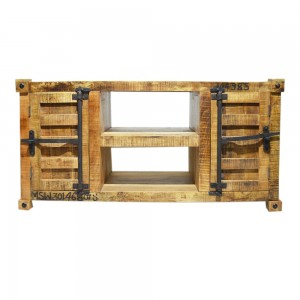 Earth Solid wood Industrial Plasma Stand