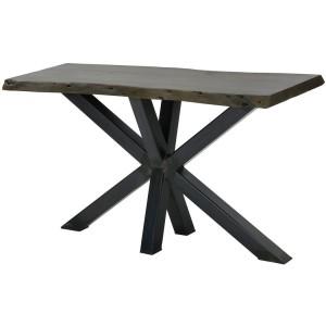 Black Live Edge Console Sofa Table Single Slab