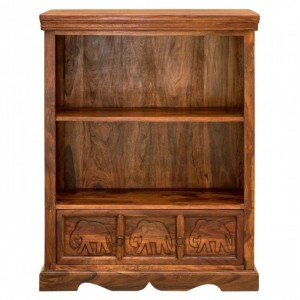 Elephant Design Indian Solid Wood Bookshelf
