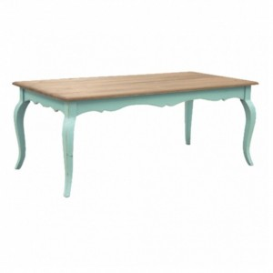 French Colonial Style Dinning Table 180CM - Turquoise