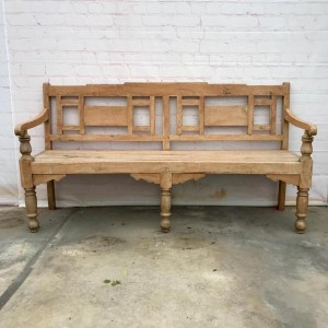 Boston Indian Teak Wood Anglo Indian Garden Seating Bench Natural