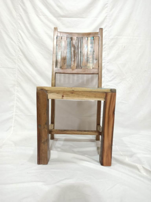 Reclaimed Wood Dining Chair 45x45x105 cm