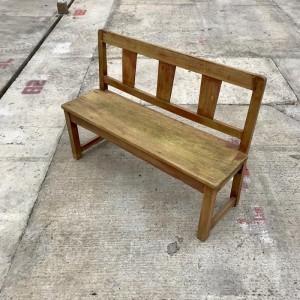 Boston Indian Teak Wood School Bench With 3 Seater C