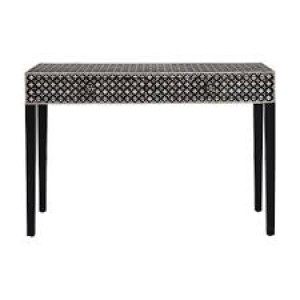 MAAYA Bone Inlay Black FLORAL Hall table design