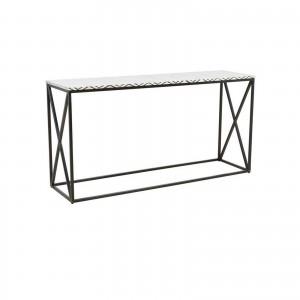 MAAYA Bone Inlay Solidwood Console Hall table Chevron pattern