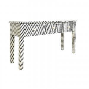 MAAYA Bone Inlay wooden 3 Drawers Hall Side Table