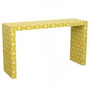 Maaya Bone inlay Yellow White Floral Console Hall table