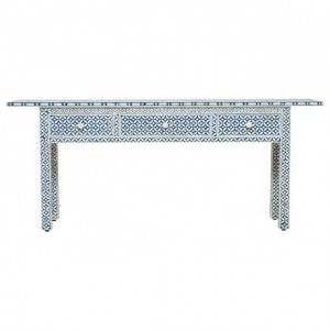MAAYA Bone Inlay wooden 2 Drawer Hall Table Console