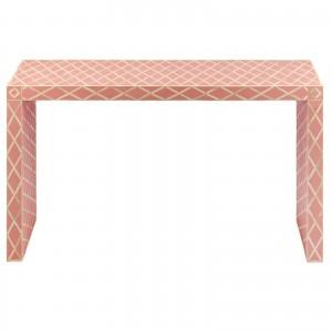 Maaya Bone inlay Pink White Geometric Console Hall table