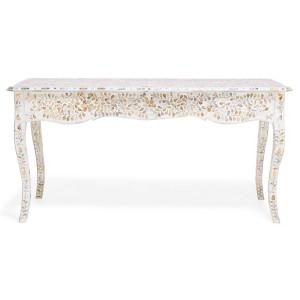 MAAYA Bone Inlay Solidwood Console Hall table Floral pattern