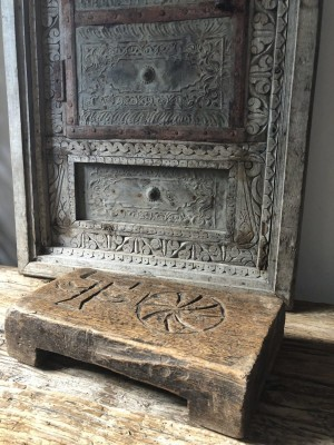 Wooden Bajot Unique Carvings Bayi 30x18x6.5 cm
