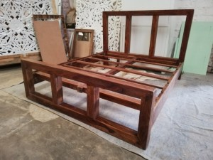 Classic Evergreen Wooden Beds With Headboard L Chocolate Brown