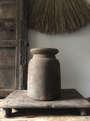 Solid Wooden Oil Pot Storage Natural Size L