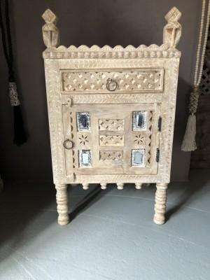 Damchiya Bridal Cabinet Left Open Bleached 45x39x82 cm