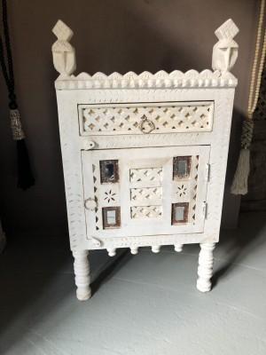 Damchiya Bridal Cabinet Left Open Whitewash 45x39x82 cm