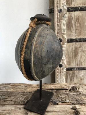 Wooden Surai Pot Rustic Black XL 22x22x40 cm