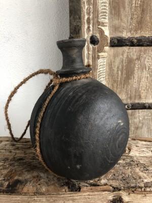 Wooden Surai Pot Black XL 20x20x27 cm