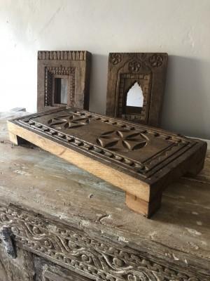 Wooden Bajot Unique Carving 46x20x6 cm