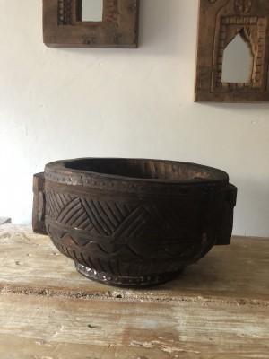 Wooden Bowl Naga Size L 31x27x16 cm