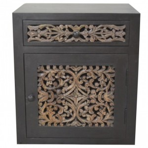 Dynasty carved jali panel side Table B