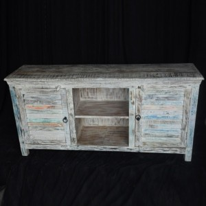 SALVAGE Shutter Reclaimed Wood TV Unit White