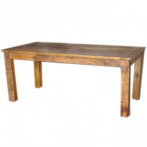 Corso Reclaimed & Mango Wood Rectangle Dining Table 6-8 Seater Honey 180cm
