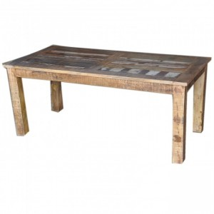 Corso Reclaimed & Mango Wood Rectangle Dining Table 6-8 Seater Natural 180cm