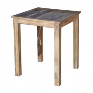 Corso Reclaimed & Mango Wood Square Bar Table High Table Natural 80x80cm