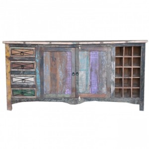 RUSTICA Reclaimed Wood Sideboard Multicolor