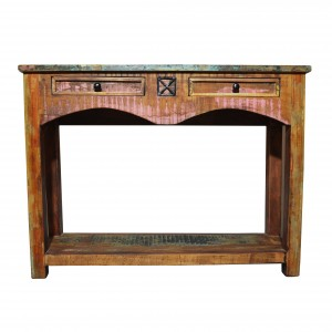 RUSTICA Reclaimed Timber 2 Drawers Console Table