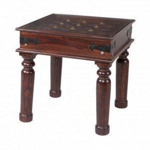 Brasswork Coffee Table Honey Brown