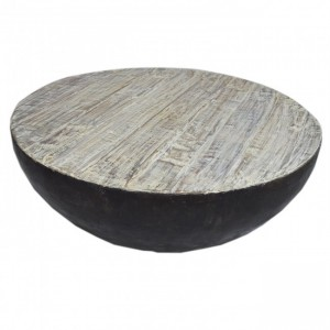 Reclaimed Old Timber Drum Round Coffee Table