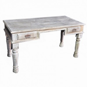Antique Indian Carved Console Table White