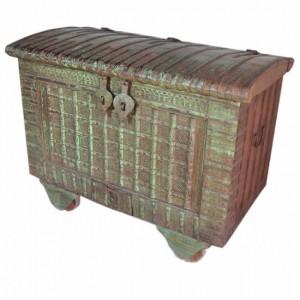 Indian Brasswork Antique Storage Box