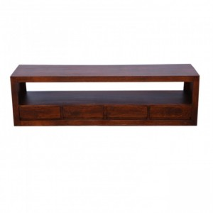 Contemporary Boston 4 drawer TV Unit Brown 175cm