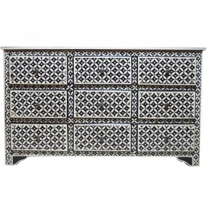 Pandora Bone Inlay Painted Chest of Drawers