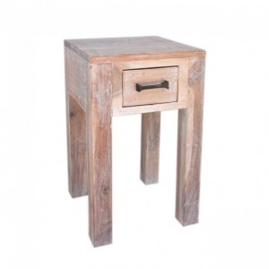 Kompact Wooden Bedside White Wash 30X30cm