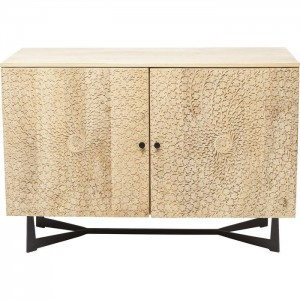 Lava Exotic 2 Door Mango Wood Industrial Carved Sideboard Buffet