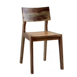 Lava Industrial Curve Sheesham Solid wood modern Dining Chair Seat