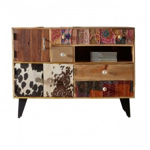 Lava Industrial Emboss Pressed Metal Entertainment Unit TV Stand L2