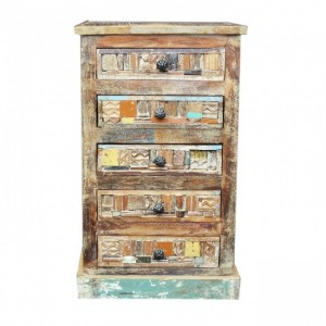 Liberty Reclaimed Wood Chest of 5 Drawers tallboy