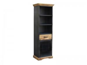 Industrial Lenox Bookshelf Black 182cm