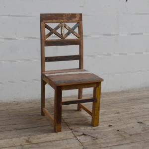 Nirvana Indian Reclaimed Wood Seating Chair Natural