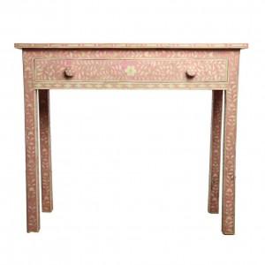 MAAYA Bone Inlay PINK FLORAL Hall table design