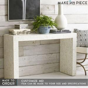 MAAYA Bone Inlay Solidwood Hall Side Table Desk 120CM