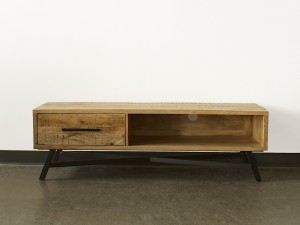 Miller Industrial Indian Solid Wood Tv Unit Media Console