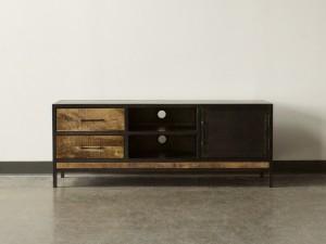 Metal Factory Industrial Indian Solid Wood Tv Media Cabinet