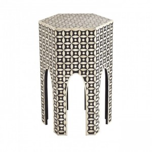 Maaya Bone Inlay Small Arabian Side Table Stool Stand